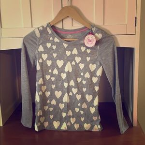 NEW Girls SO Long Sleeve Hearts Tee